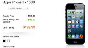 AT&T'de iPhone 5