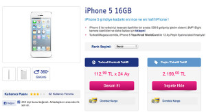 Turkcell'de iPhone 5